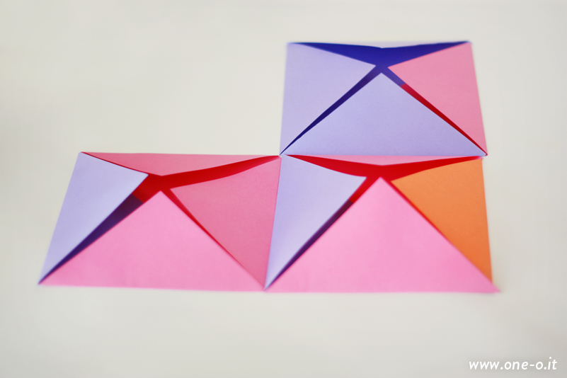 Last minute Valentine's Decor | via www.one-o.it | #paper #heart #valentine #geometry #colorful #decor #love