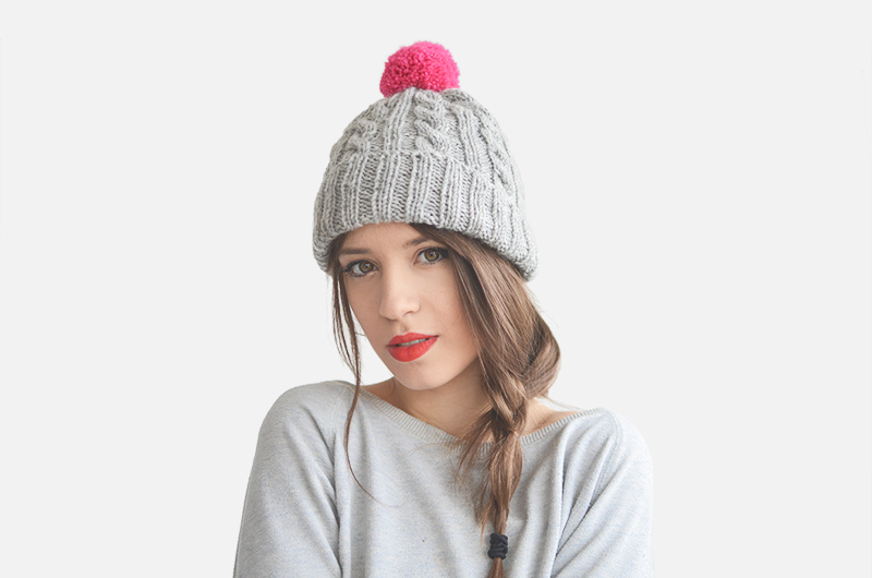 Plexida - interview on One O textile | www.one-o.it | #winter #accessories #headband #beanie #pompom #chochet #knitted #hairstyle