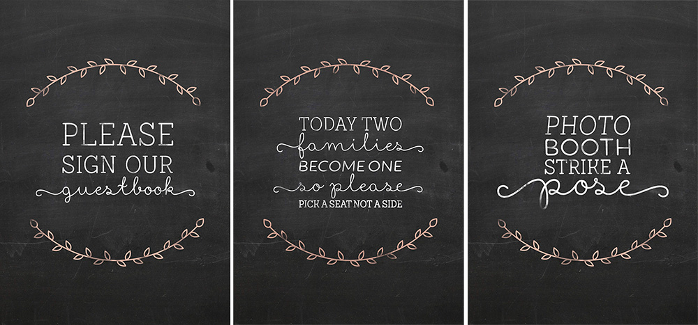 Wedding day free printable - chalkboard freebie | via www.one-o.it | #diy #wedding #free #printable #freebie