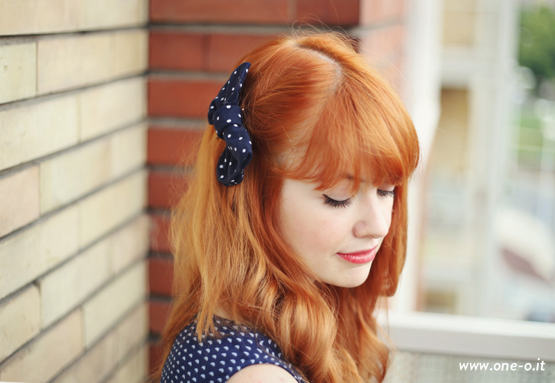 How to make a bow and how to wear it | via www.one-o.it | #DIY #hairbow #bow #hairstyle #updo