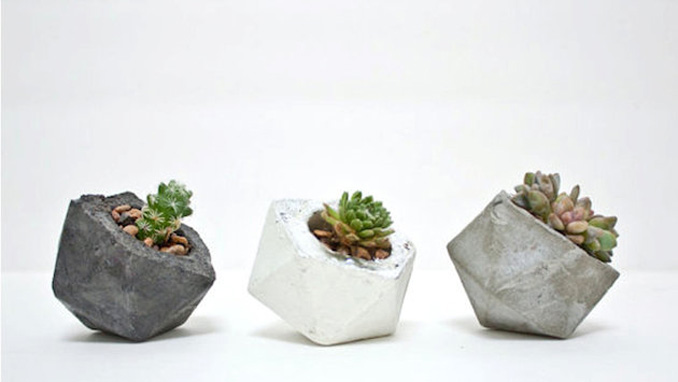 Concrete Geometric One O #home #decor #design #succulent #succulents