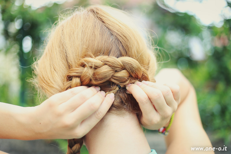 Quick and easy #summer #updo - #braided #hairstyle| via One O www.one-o.it