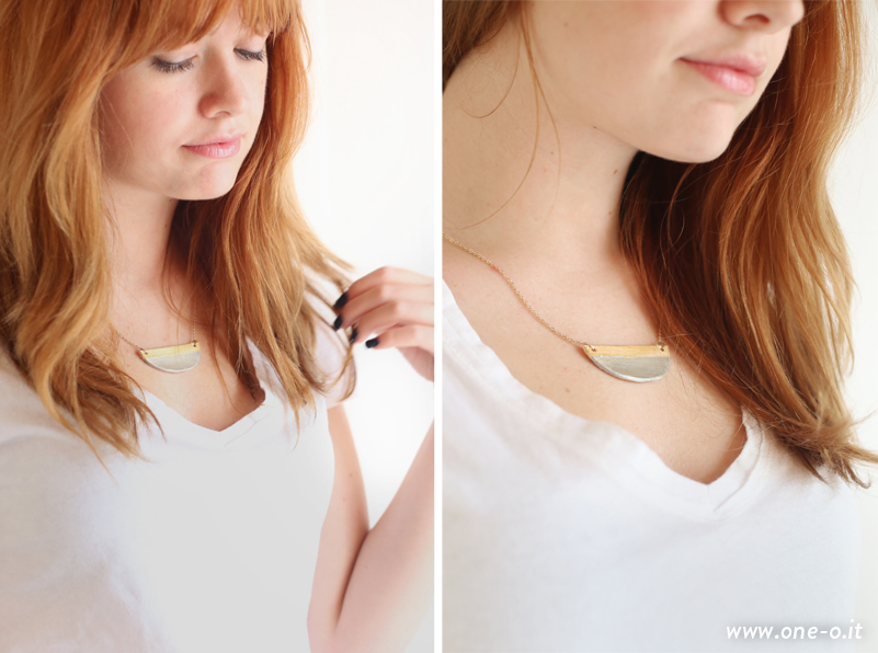 DIY golden minimal necklace header | via www.one-o.it | #diy #fall #autumn #gold #necklace