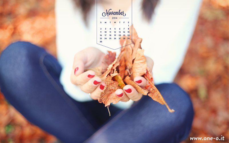 Welcome November via One O - free #photography #desktop download  - #freebie #fall #autumn #leaves