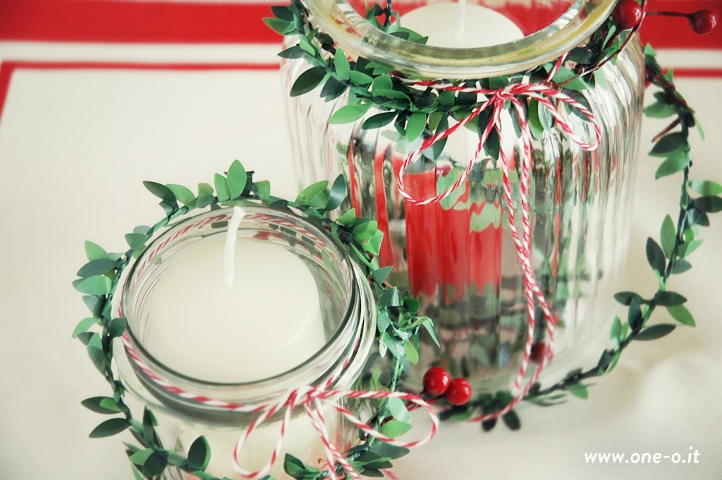 #DIY #ombre #Christmas #centerpiece One O #candle #tableset #party #table #tablescape #decor #home