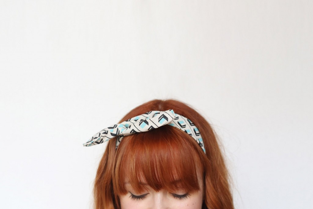 Wire Headband | Mint | Town Hall Square Pattern