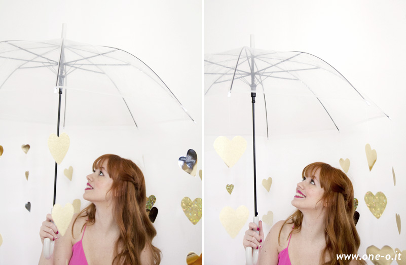 DIY Valentine - photoshoot prop heart umbrella | via www.one-o.it | #valentine #v-day #shooting #photography #idea #prop
