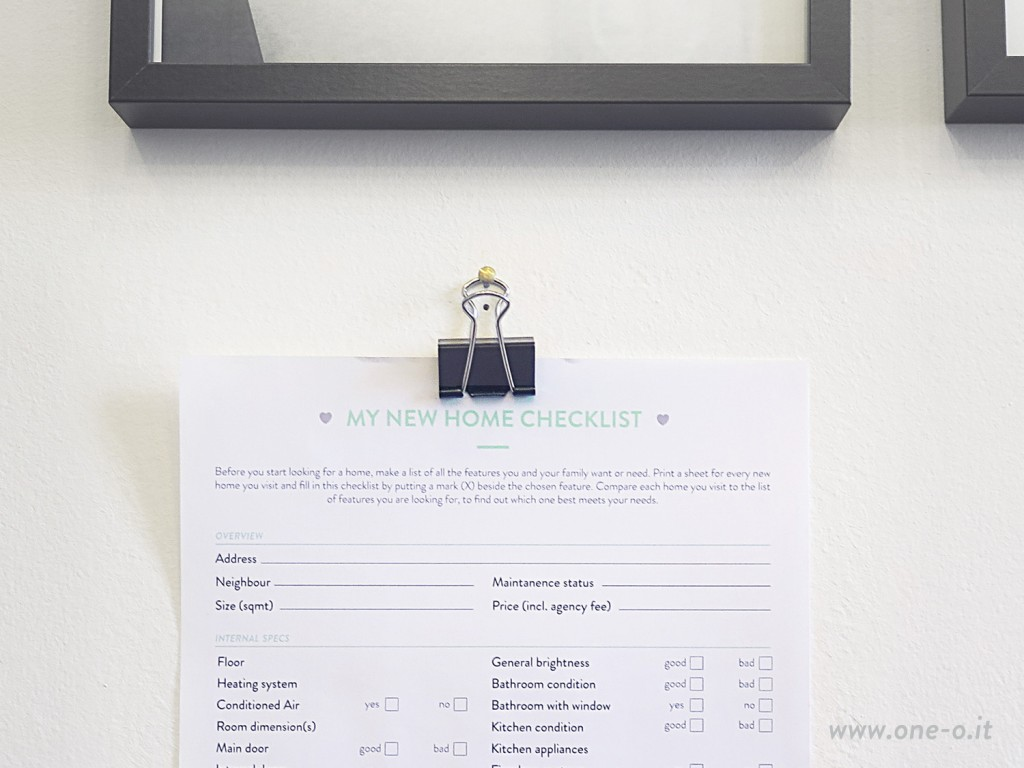 #My #New #Home #Checklist #Free #Printable #OneO