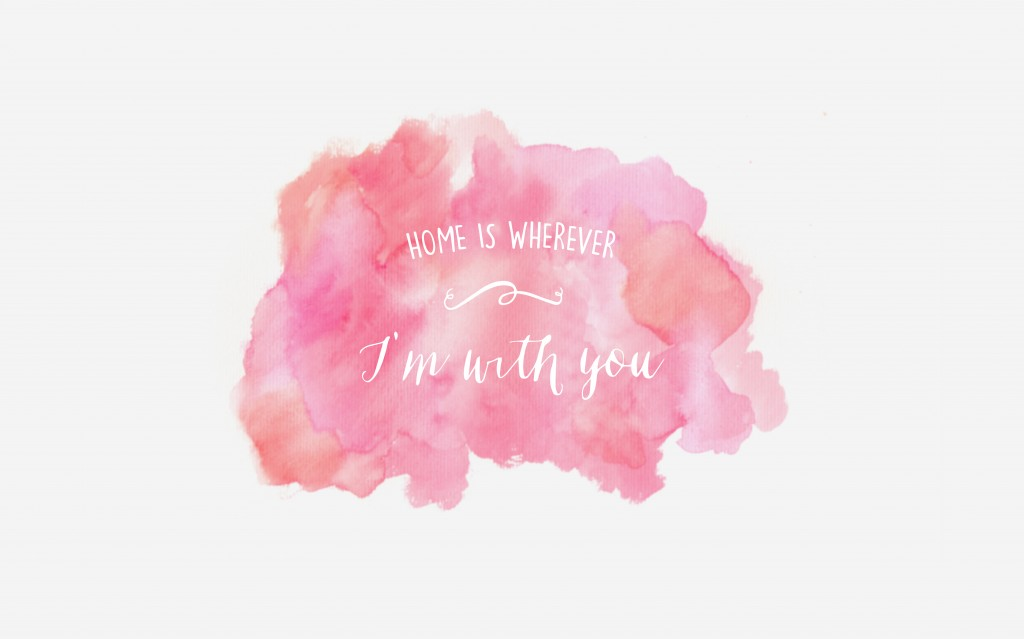 Free watercolor wallpaper | via www.one-o.it | #wallpaper #desktop #freebie #quote #words #pint #love #valentine
