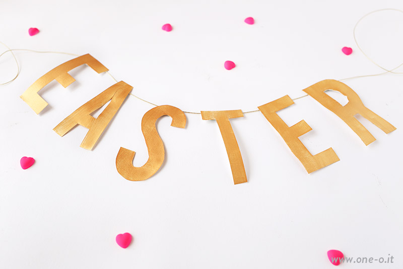 DIY Easter Banner - Home Decor Idea | via www.one-o.it | #home #diy #tutorial  #idea #easter #egg