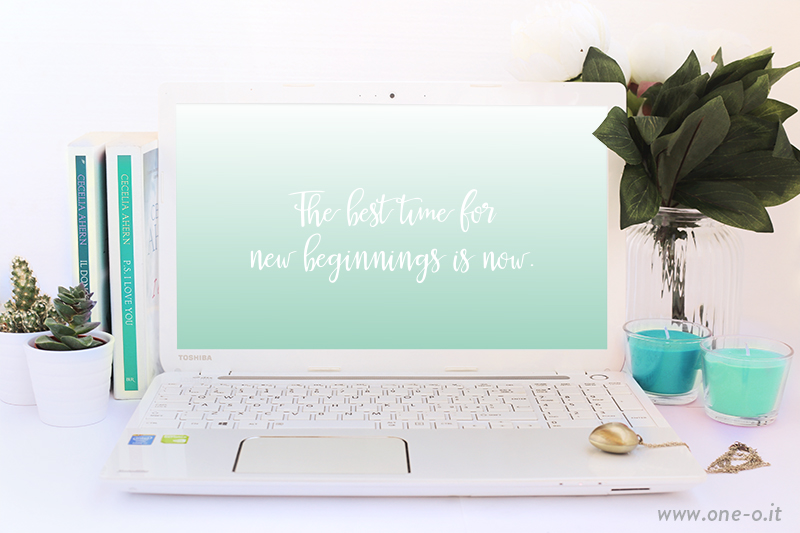 May free download | via www.one-o.it | #desktop #wallpaper #freebie #mint #ombre #poster #quote