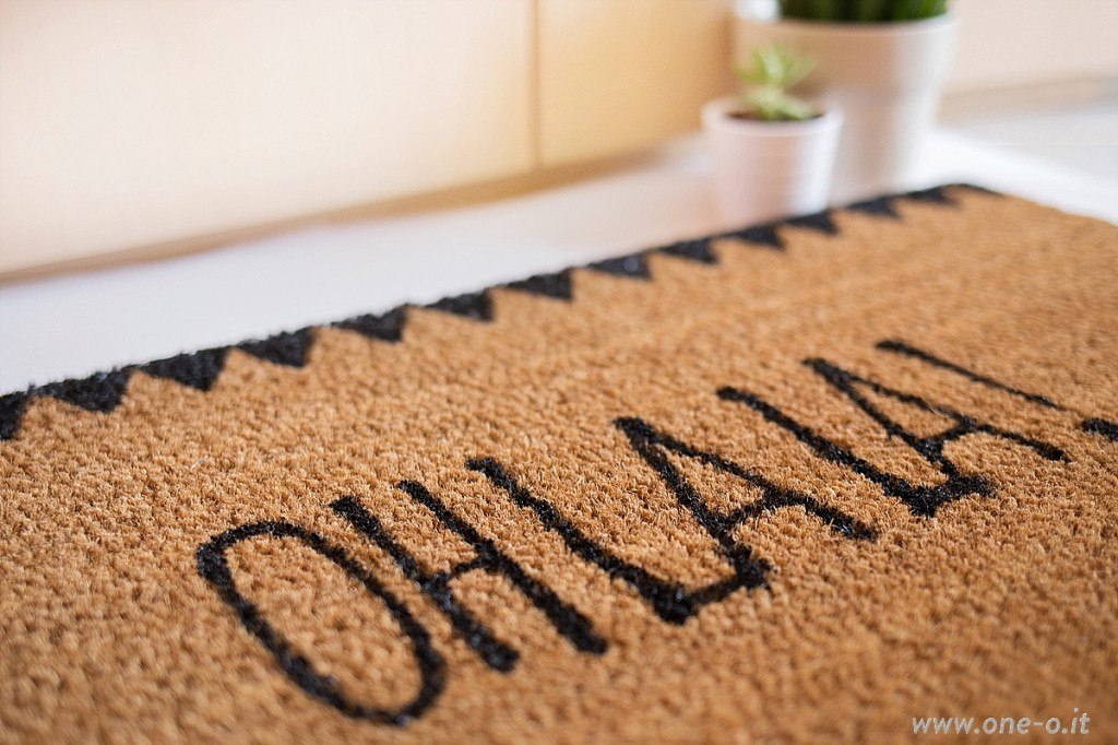 DIY door mat | how to on www.one-o.it | #diy #home #decor #mat
