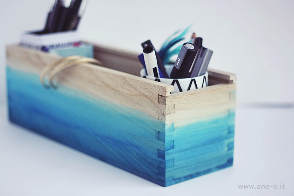 #OneO #DIY #Ombre #Watercolor #Box