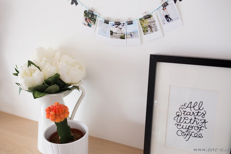 Polaroid Dispay | via www.one-o.it | #diy #polaroid #photo #display
