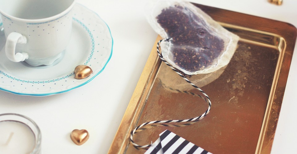 DIY Heart Tea Bags Envelope OneO