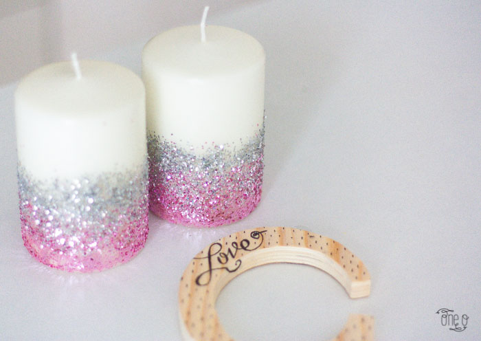 #diy #candle #ombre #glitter #valentine #love