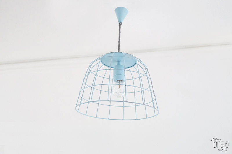 DIY Pendant Lamp From A BAsket (3)