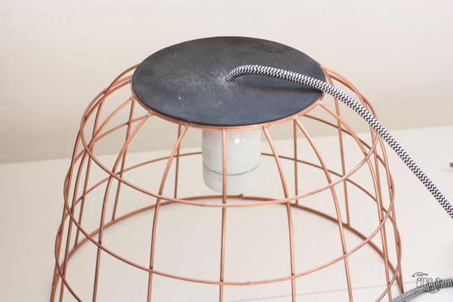 #diy #wireframe #hanging #lamp #howto via One O
