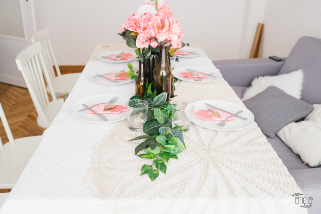 elegant boho birthday party idea table set-8