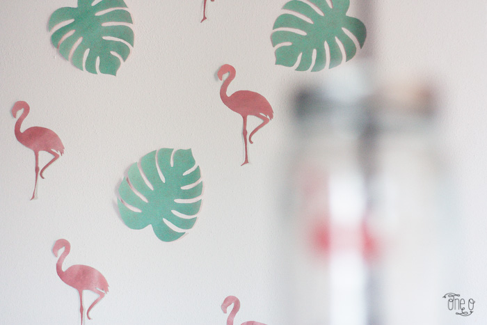 diy flamingo exotic party backdrop | via One O