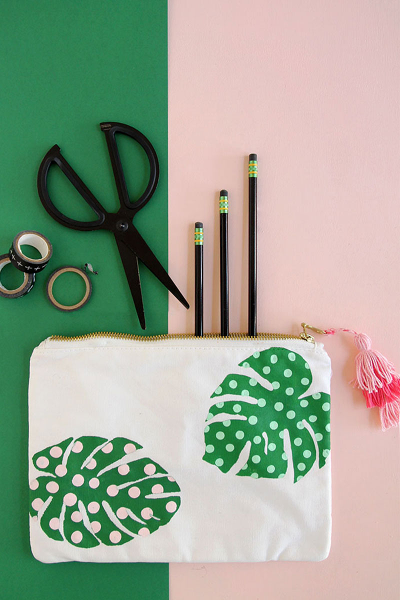 back to school work diy pouch