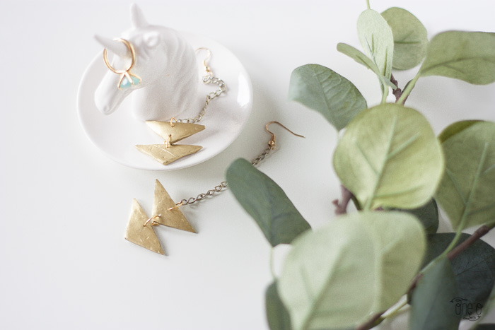 diy jewelry triangle earrings