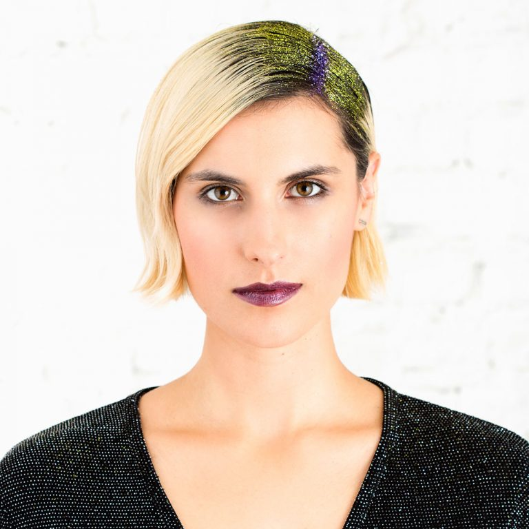DIY Halloween hair idea - Glitter Hair Roots via Brit+co