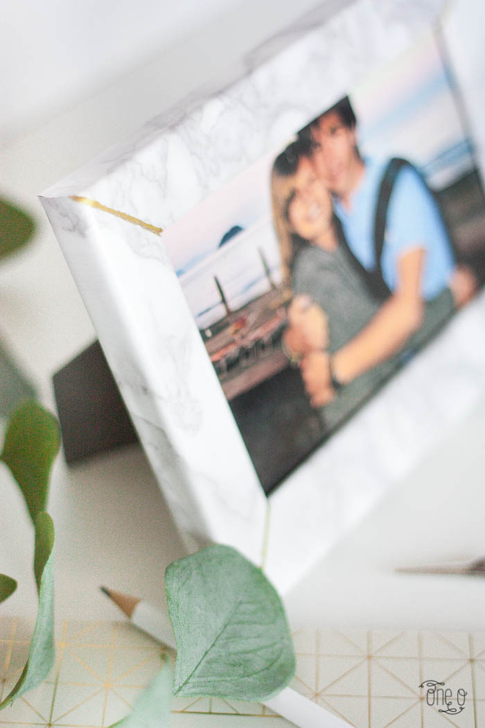diy marble photo frame valentines day gift make handmade One O oneo oneodiy