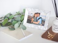 DIY this Valentine's Marble and Gold Frame for a Cute Gift