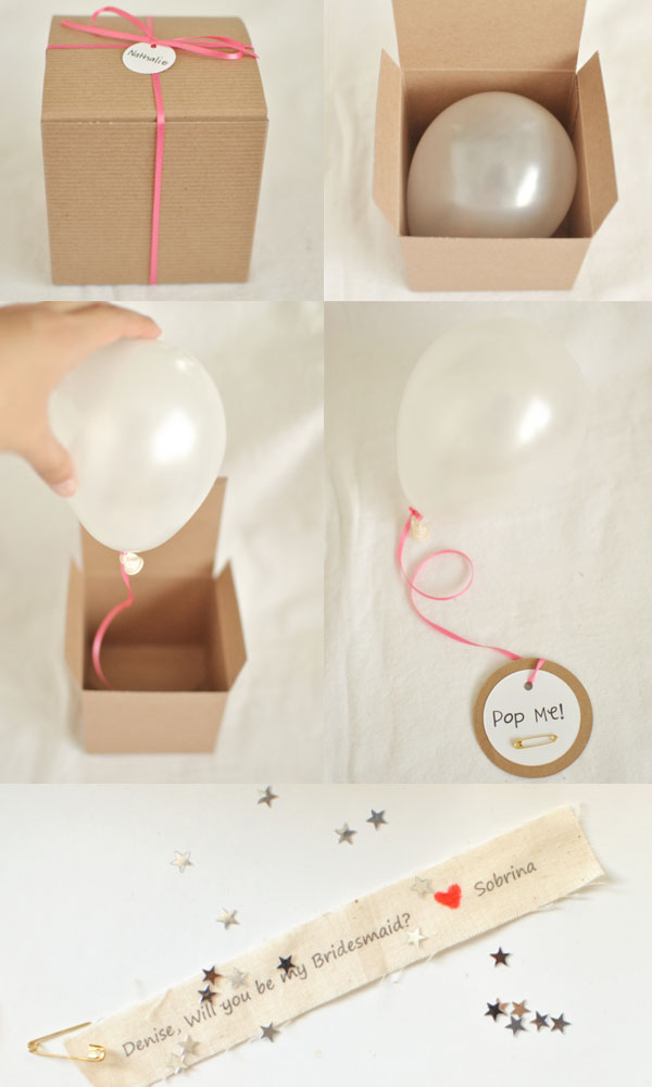 diy ideas will you be my bridesmaid via www.one-o.it