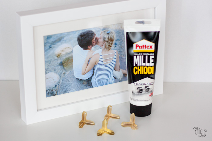 diy gold edge photo frame -1