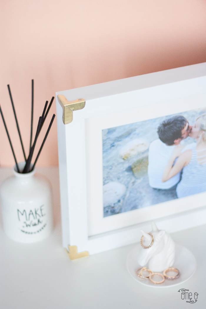 diy gold edge photo frame -8