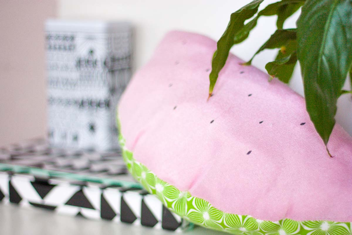 one o one-o diy watermelon throw pillow set4