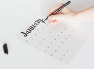How to DIY your 2018 Calligraphy Calendar