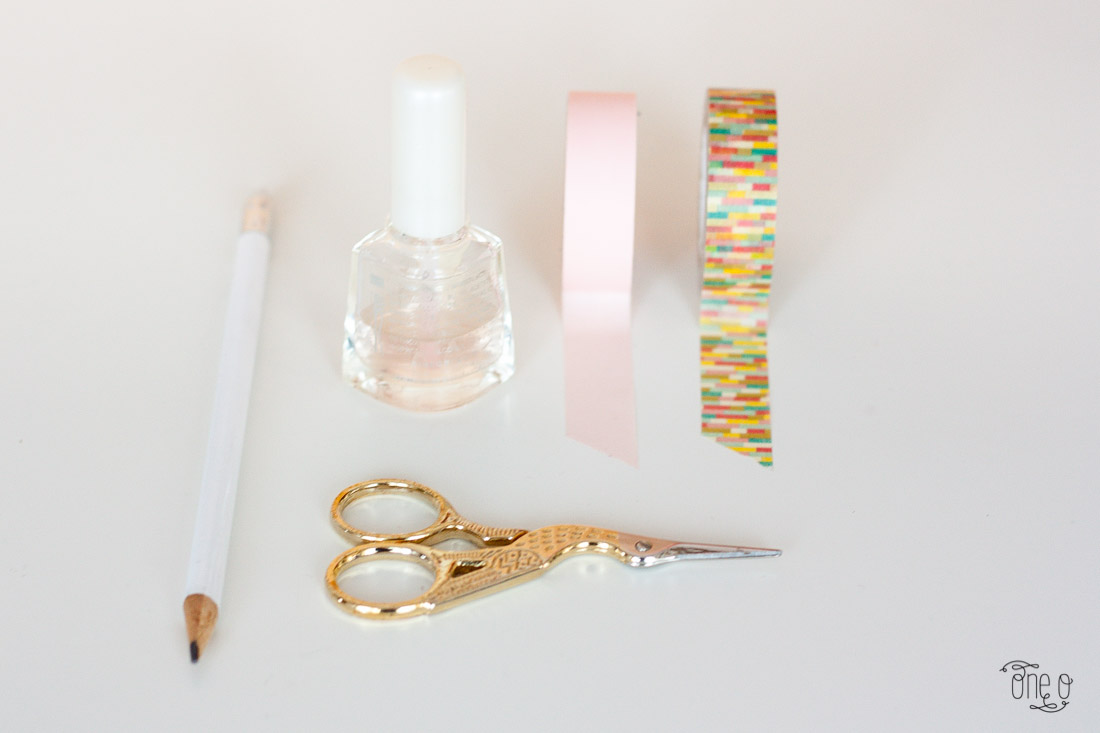 diy washi tape nail art diy craft beauty via One O