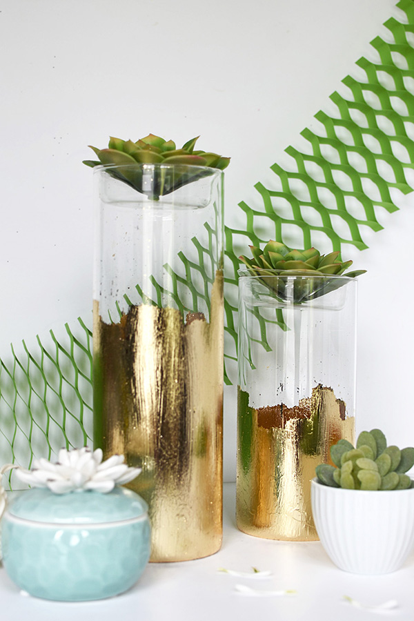 Gold-Foil-Glass-Planter-Vase-6